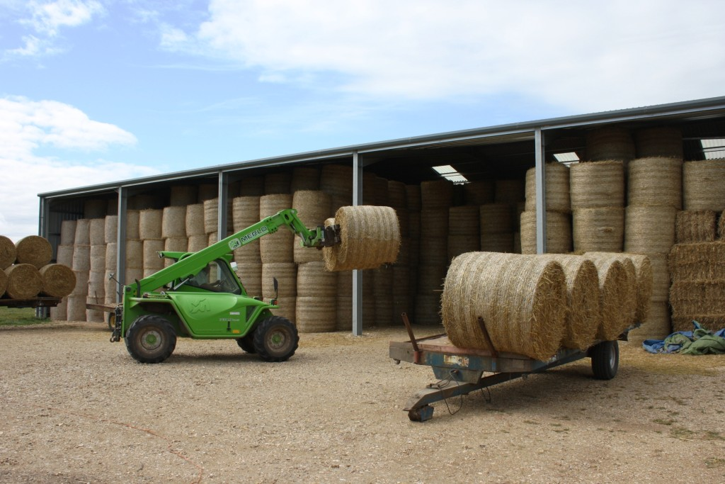 Straw Storage Building in Use